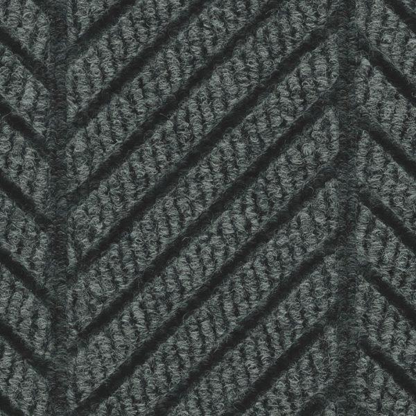 Close Up Waterhog Eco Grand Elite-Entrance Mat showing Pattern - Black Smoke