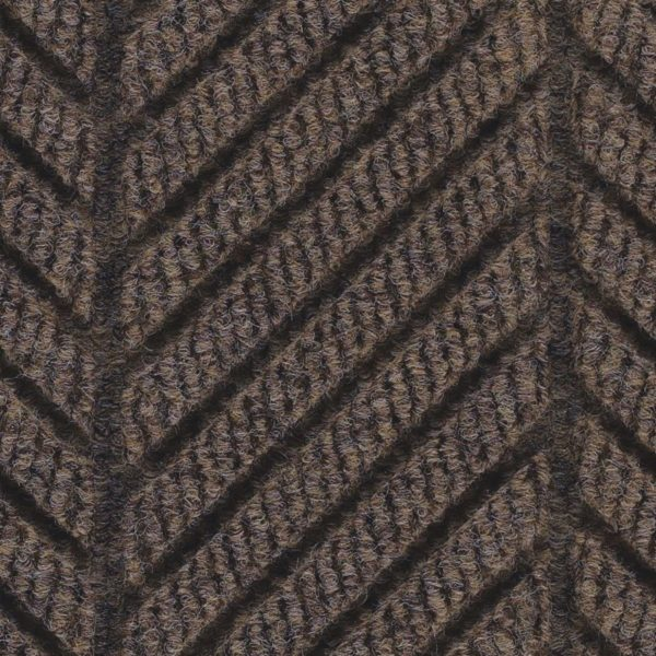 Close Up Waterhog Eco Grand Elite-Entrance Mat showing Pattern - Chestnut Brown