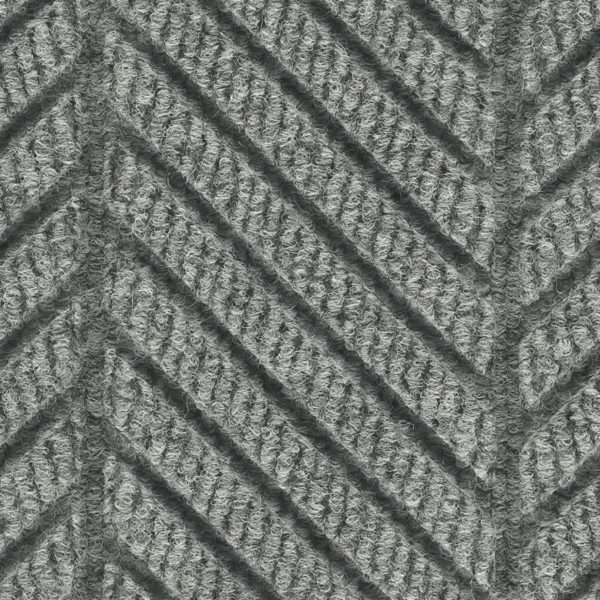 Close Up Waterhog Eco Grand Elite-Entrance Mat showing Pattern - Grey Ash