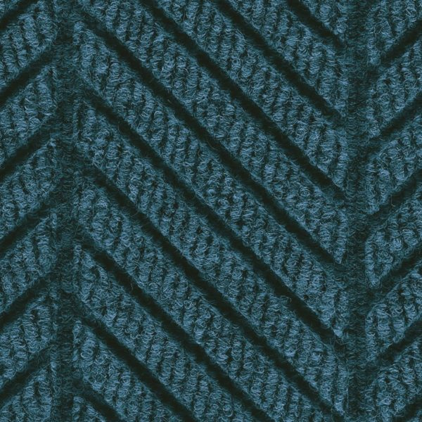 Close Up Waterhog Eco Grand Elite-Entrance Mat showing Pattern - Indigo