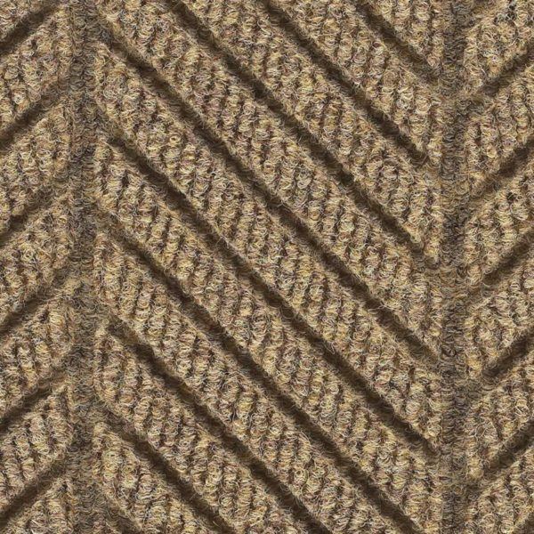 Close Up Waterhog Eco Grand Elite-Entrance Mat showing Pattern- Khaki