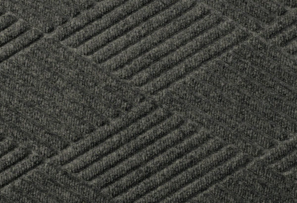 Close up surface view of Waterhog Eco Premier carpet mat in a Black Smoke color