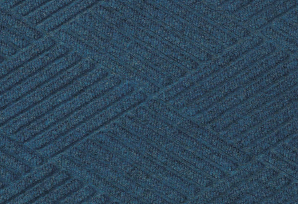 Close up surface view of Waterhog Eco Premier floor matting in an Indigo color