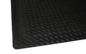 Surface Texture close up view for Black Diamond Plate Anti Fatigue Mat