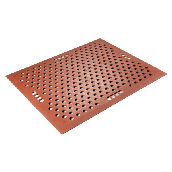 Grade A Kitchen Mats showing holes for carrying the floor mat and drainage