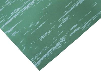 Marbleized Green Military Switchboard Floor Matting Surface Corner View