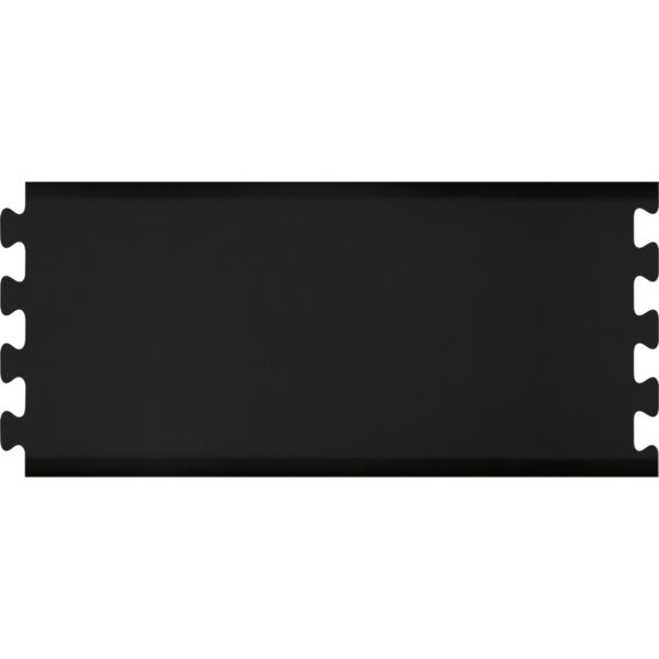 Middle Section for Interlocking Infinity Salon Mats Black