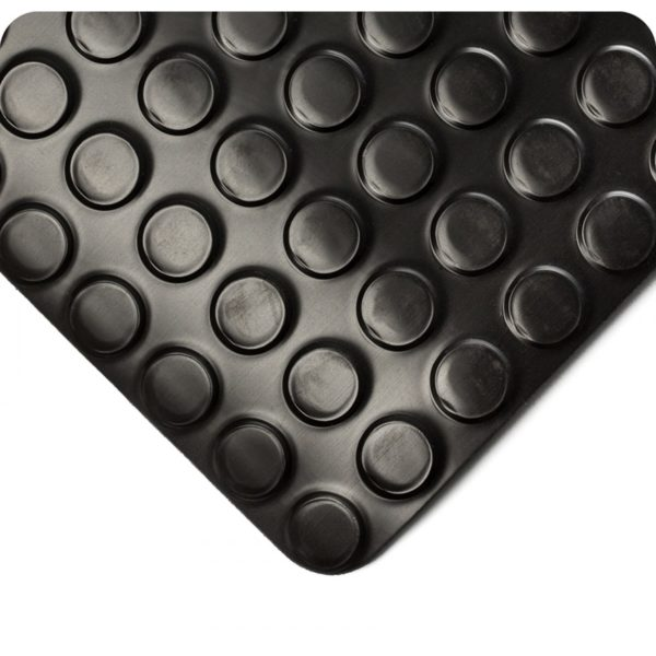 Close up View for Radial Runner Floor Matting with circles - Black