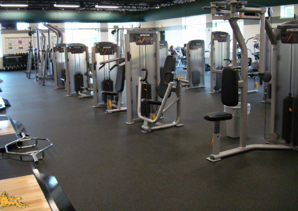 Commercial Gym with Rubber Gym Flooring