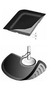 "Drawing of 7/8"" Thick Multi Flex Salon matting for stylist detailing unique foam underside design"