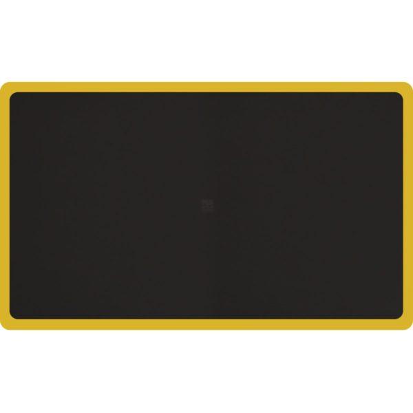 Tough Guy Anti Fatigue Mat with Yellow Border - 6' x 2.5' size
