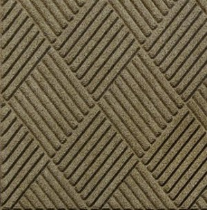 Waterhog Grand Classic entrance mat close up of surface detail and color - Camel