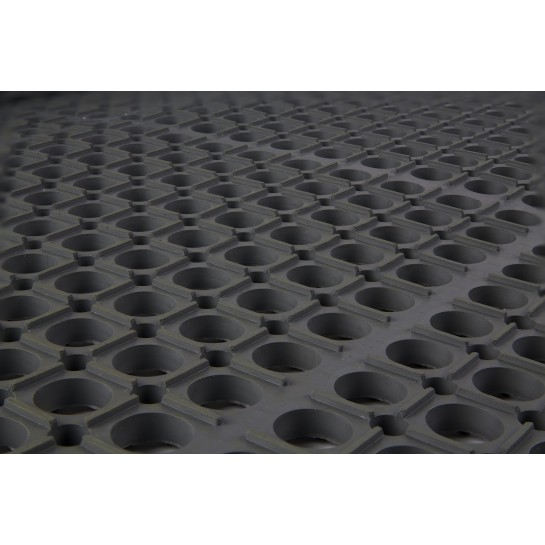 Close up view of Worksafe Light Cutting Fluid Resistant (CFR) Industrial Floor Mat
