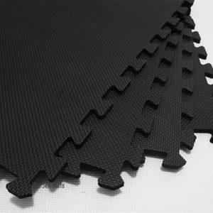 Premier Tuff Interlocking Gym Floor Tiles Close up view of surface texture and interlocks