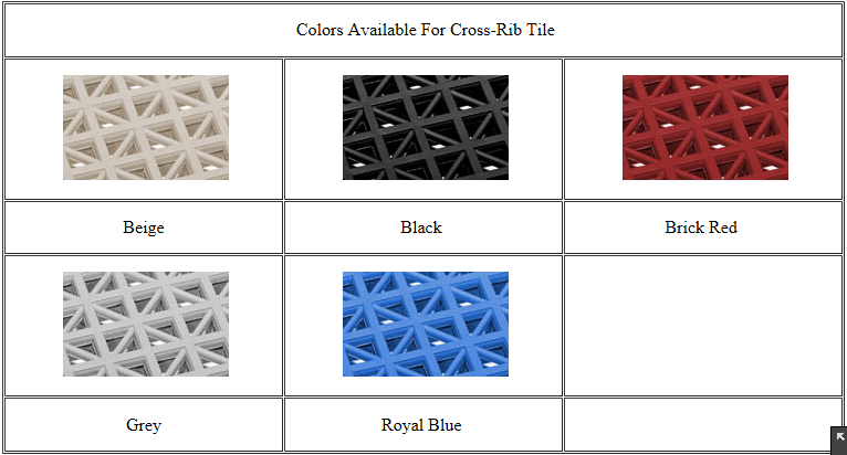 Cross Rib Interlocking Shower Tiles