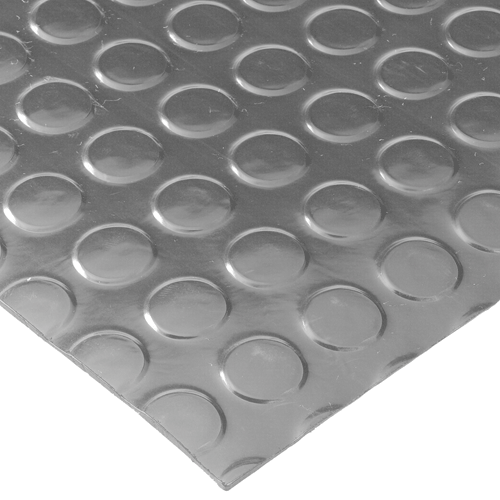 Close up View for Radial Runner Floor Matting with circles - Gray