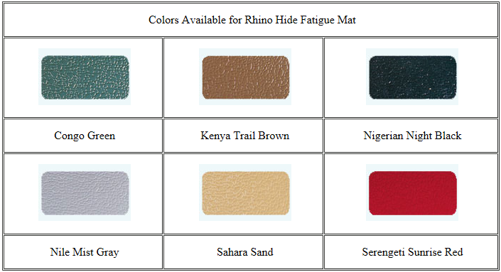 Rhino Hide Anti-Fatigue mat 1/2""
