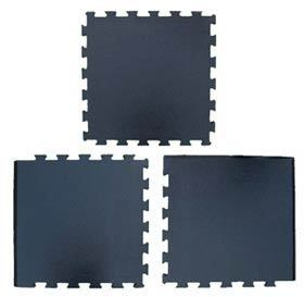 "Premier Tuff Rubber Interlocking 3/8"" Tiles with 3 tile configurations showing Corner, Center and Edge tile details"