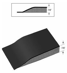 "Drawing of Xtra Flex Salon Mat in a 7/8"" Thickness showing a side view of the foam and surface of the floor mat"
