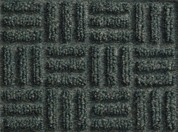 Close up of surface pattern for a Mauve Waterhog Masterpiece Select Smokey Teal indoor floor mat