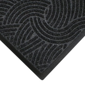 Close up corner view of Waterhog Plus floor mats detailing edge details and surface pattern of the entrance mat