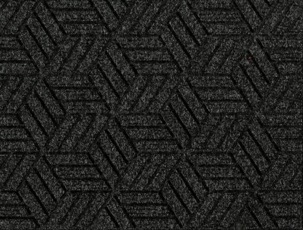 Close up view Waterhog Legacy Eco Floor Mat Black Smoke detailing the high tech floor surface pattern of the walk off mat