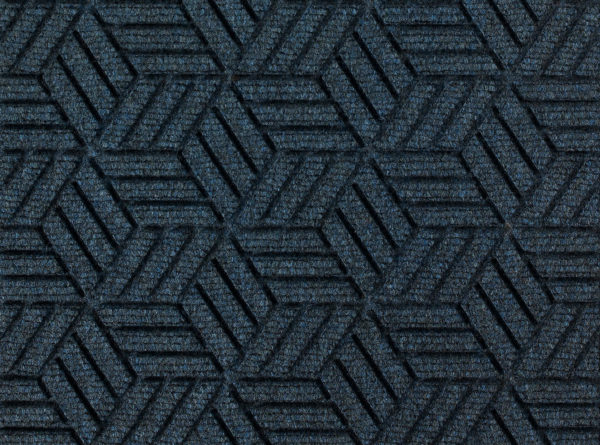 Close up view of a Indigo Waterhog Legacy Eco floor mat detailing the high tech floor surface pattern of the walk off mat