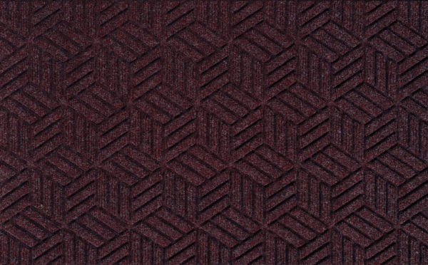 Close up view of a Bordeaux Waterhog Legacy Classic entrance mat detailing the high tech floor surface pattern of the entry matting
