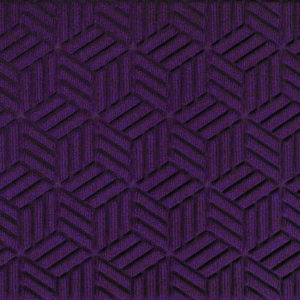 Close up view of a Purple Waterhog Legacy Classic entrance matting detailing the high tech geo floor surface pattern of the front door mat