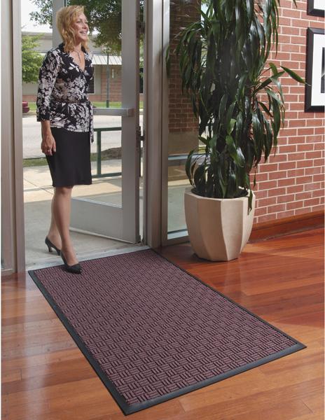 Waterhog Masterpiece Select Indoor Door Mat used as an entrance mat to a business on hardwood floors