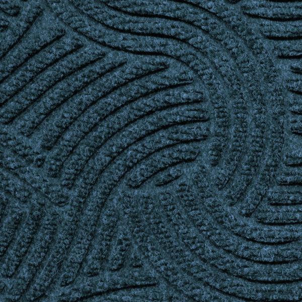 Close up view of Waterhog Plus Swirl Pattern Indigo showing swirling pattern of the floor mat