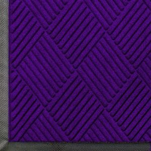 Close up view of Purple Waterhog Classic Diamond walk off mat with Standard Rubber Edges
