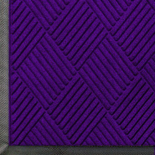 Close up view of Purple Waterhog Classic Diamond walk off mat with Standard Rubber Edges