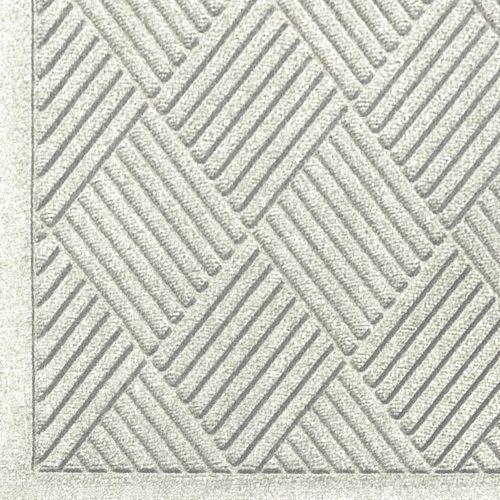 Close up view of White Waterhog Classic Diamond walk off mat with Fashion Border