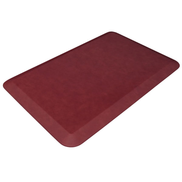 GelPro Designer Kitchen Mats - Leather Grain Surface - Cranberry