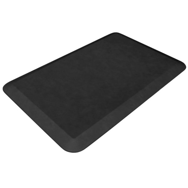 GelPro Designer Kitchen Mats - Leather Grain Surface - Jet Black