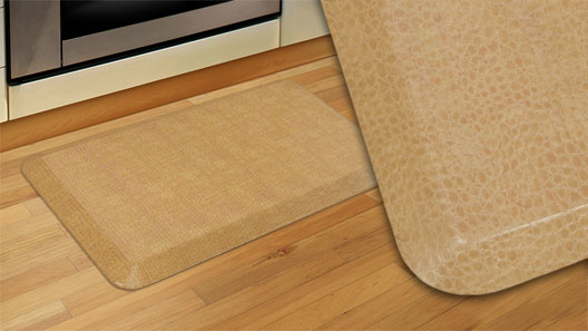 GelPro Designer Kitchen Mats for the home - Pebbled Surface - Wheat