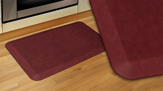 GelPro Designer Kitchen Mats for the home - Leather Grain Surface - Cranberry
