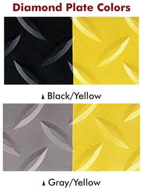 Diamondplate Fatigue mat Black-Yellow and Gray-Yellow
