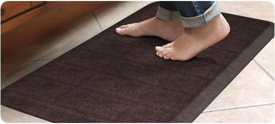 GelPro Designer Kitchen Mats for the home - Pebbled Surface - Espresso