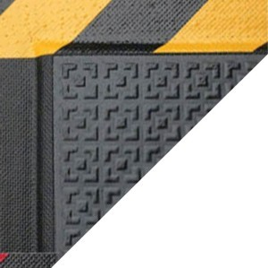 Happy Feet Anti Fatigue Mat with Yellow Caution Border
