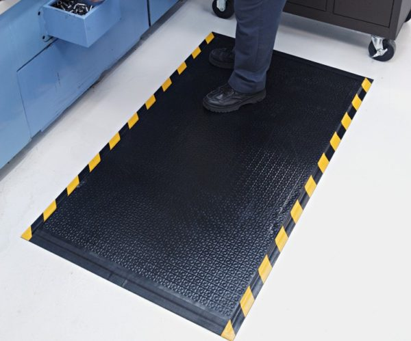 Happy Feet Anti fatigue matting with Yellow Safety Border