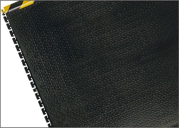 Happy Feet Linkable Anti Fatigue Mat - Yellow Visual Warning