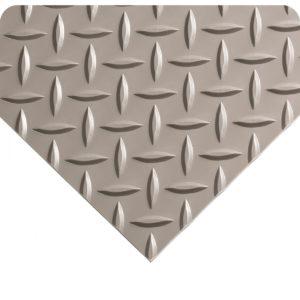 Diamond Plate Anti Fatigue Mat - Gray Surface