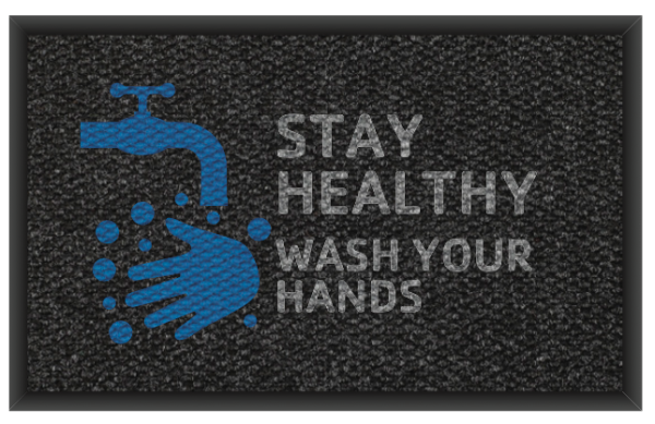 Stay Heathy Wash Your Hands 3'x 5' and 4' x 6' -Design 2