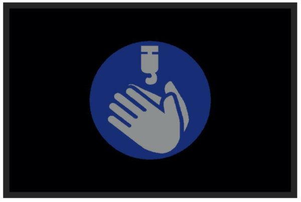 Hand Sanitize Station mat 2' x 3'