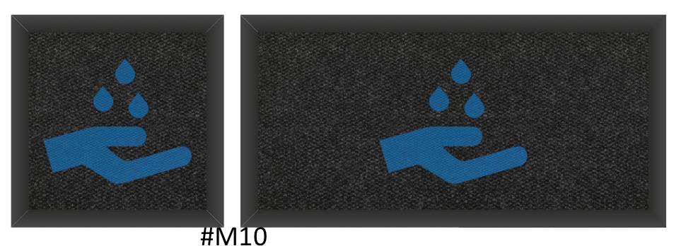 Hand washing - inside/outside mats