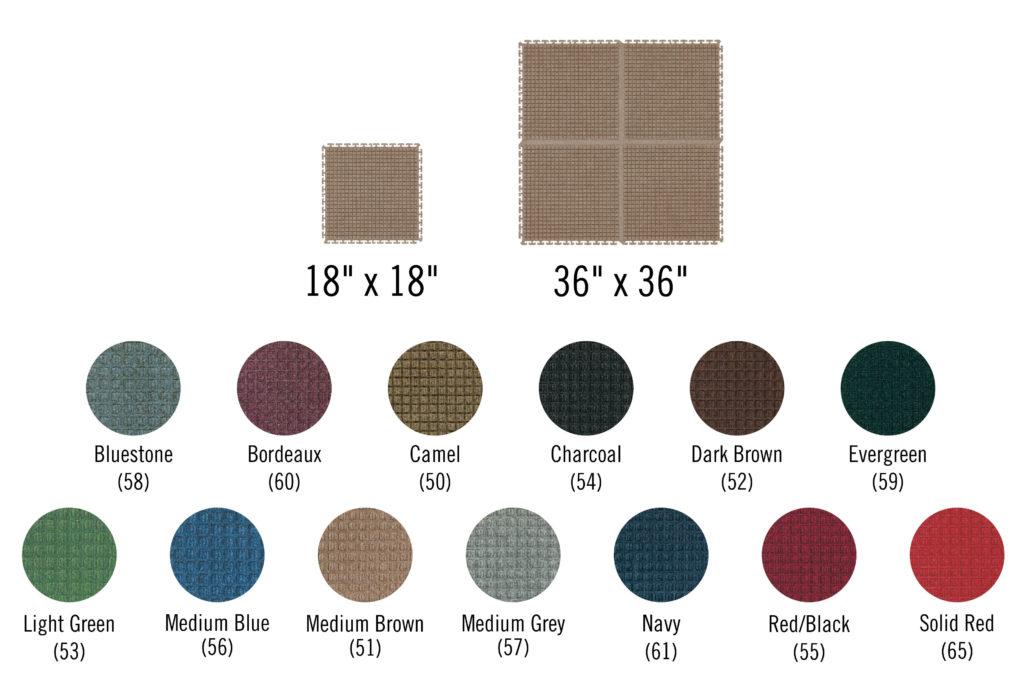 Waterhog Modular Tile Colors