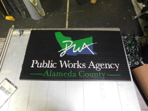 Custom Logo Mat in Recessed Aluminum Floor mat - Oakland, CA