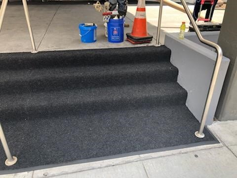 Custom Floor Mat cascading down steps - Washington, DC